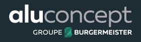 Logos négatifs d'Aluconcept en différents format